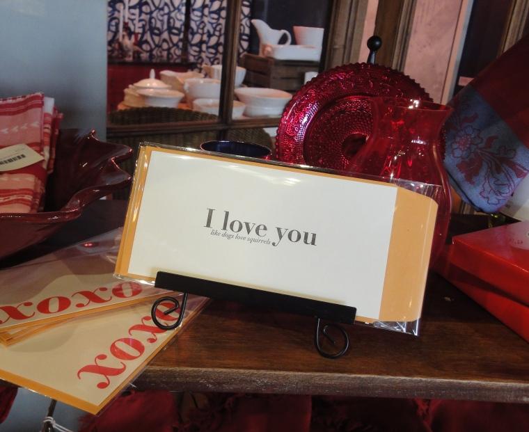 valentine red bird ink card