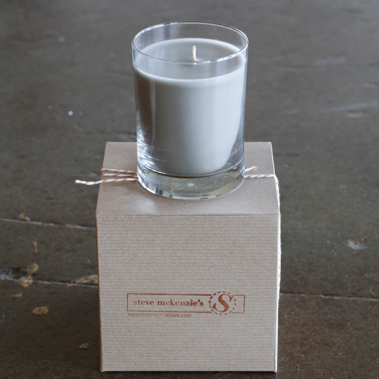 "A simple candle in a smart scent, such as this ""Twisted Sage"" version from steve mckenzie's will allow guests to enjoy the new feel of your space using their sense of smell."