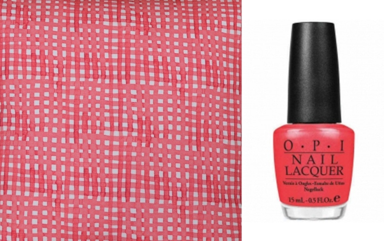sm's Tulip and OPI's I Eat Mainly Lobster