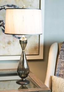 Tracy Glover Studio 'Pear Lamp' in gray glass