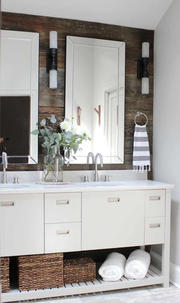 Designer Sherry Hart took this scouting photo of a Buckhead project herself, but put the time into styling and getting the lighting right to accent this Zen-like bathroom. The bathroom itself combines textures and materials in a fresh way, and it will be featured in the fall issue of BH&G's Kitchen & Bath Ideas.