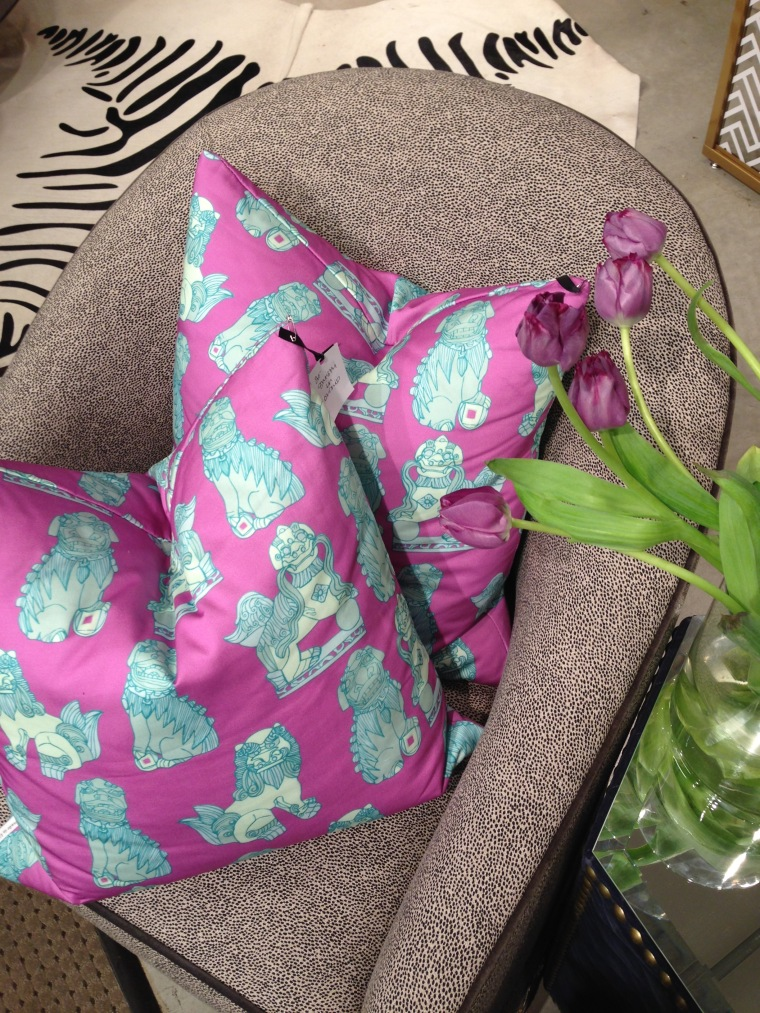 Shishi Pillows in Orchid on Cotton Sateen
