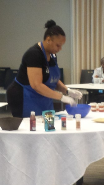 A Healthy Cooking Demo at a Pro-Woman's Group Meeting