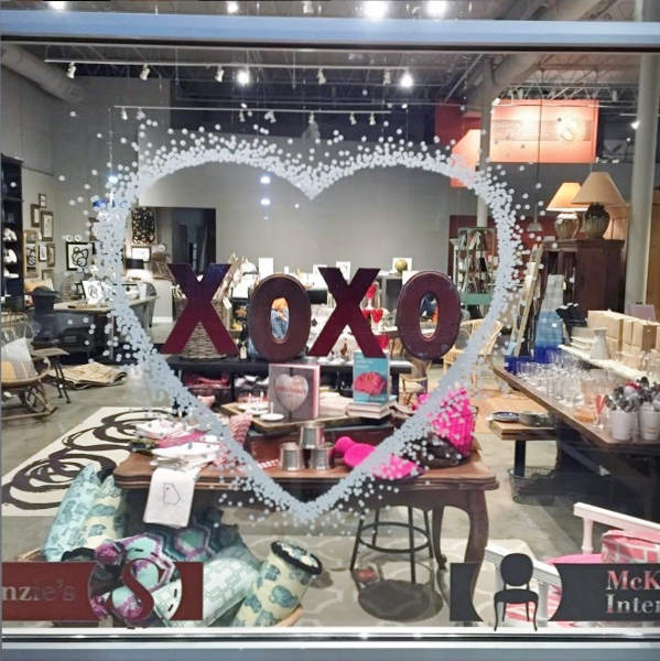 Our Valentine's window, designed by Xavier Neuner
