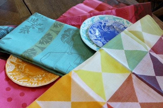 Colorful cloth napkins at steve mckenzie's.