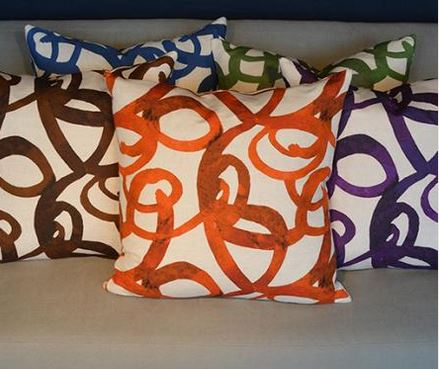 Colorful pillows add a POP!