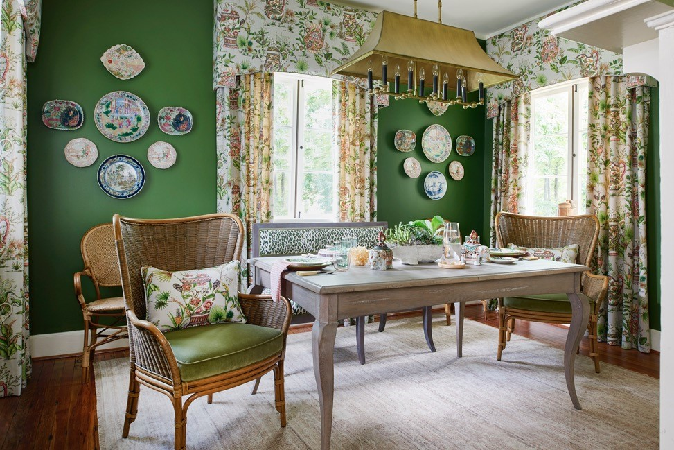 A Tropical Transformation: McKenzie Designu0027s 2017 Historic Macon Showhouse  Dining Room