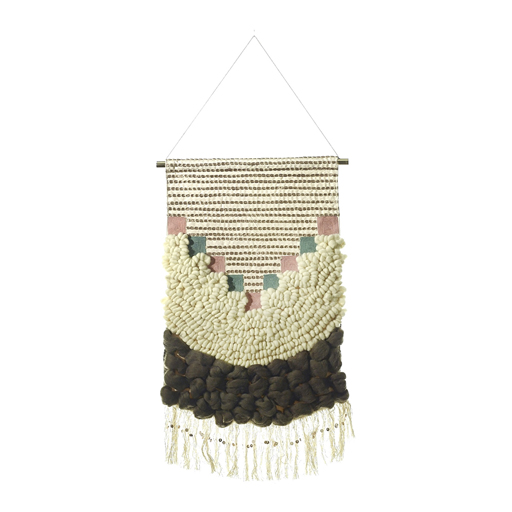 brown, pink, macrame
